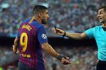 UEFA Champions League 2018/2019 - Matchday 1.<br /> FC Barcelona vs PSV Eindhoven: 4-0.<br /> Luis Suarez &amp; Tasos Sidiropoulos.