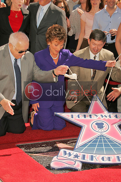 Johnny Grant with Judge Judy Sheindlin and Leron Gubler<br />at the Ceremony honoring Judge Judy Sheindlin with a star on the Hollywood Walk of Fame. Hollywood Boulevard, Hollywood, CA. 02-14-06