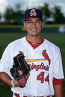 Springfield Cardinals pitcher Marco Gonzales (44) poses for a photo before a game against the Frisco Rough Riders on June 1, 2014 at Hammons Field in Springfield, Missouri.  Springfield defeated Frisco 3-2.  (Mike Janes/Four Seam Images)