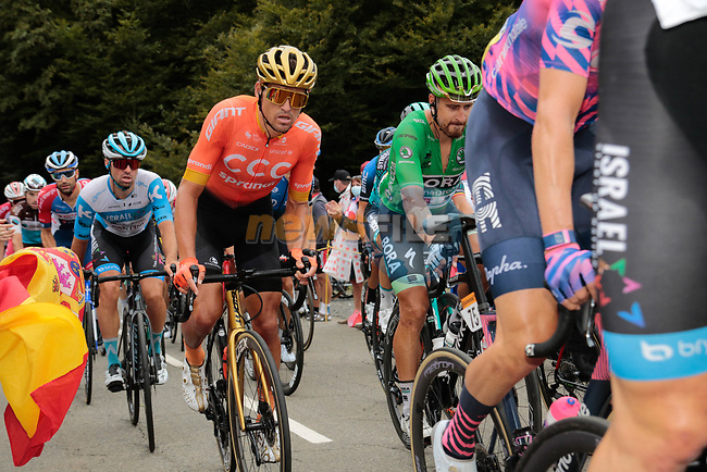 Olympic Champion Greg Van Avermaet (BEL) CCC Team and Green Jersey Peter Sagan (SVK) Bora-Hansgrohe climb Col de Marie Blanque during Stage 9 of Tour de France 2020, running 153km from Pau to Laruns, France. 6th September 2020. <br /> Picture: Colin Flockton | Cyclefile<br /> All photos usage must carry mandatory copyright credit (© Cyclefile | Colin Flockton)