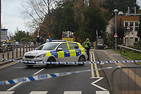 2016 10 27<br /> Emergency services attend suspect package at Swansea University's Singleton campus, Swansea, Wales, UK.