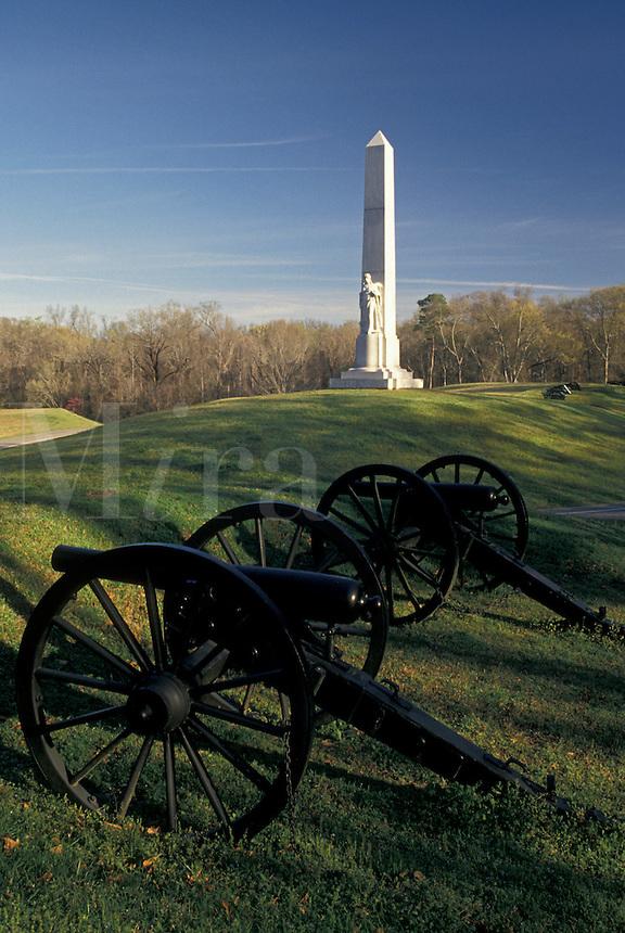 Vicksburg, Vicksburg National Military Park, Mississippi, MS, Battery De Golyer and Michigan Memorial at Vicksburg Nat'l Military Park in Mississippi.