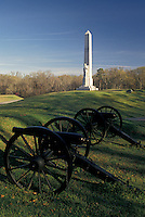 Vicksburg, Vicksburg National Military Park, Mississippi, MS, Battery De Golyer and Michigan Memorial at Vicksburg Nat'l Military Park in Mississippi.
