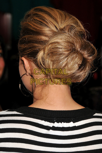 HAYDEN PANETTIERE.In Store Appearance at Kohl's Arcadia, San Gabriel, CA, USA, .13 December 2008 .portrait headshot hair up bun back rear behind black and white striped top jumper.CAP/ADM/BP.©Byron Purvis/Admedia/Capital PIctures