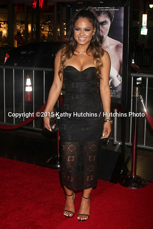 """LOS ANGELES - JAN 20:  Christina Milian at the """"Manny"""" Los Angeles Premiere at a TCL Chinese Theater on January 20, 2015 in Los Angeles, CA"""