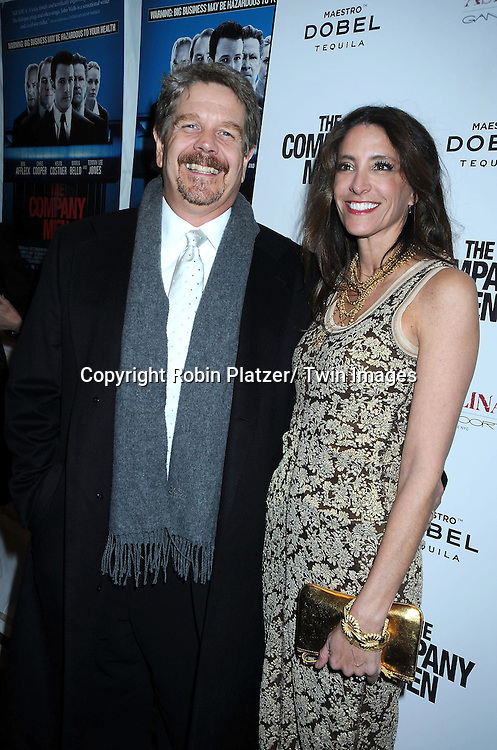 "writer/ director John Wells and producer Claire Rudnick Polstein attending The New York Screening .of ""The Company Men"" on December 8, 2010 at The Paris Theatre in New York City. The movie stars Ben Affleck."