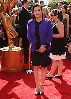 27 December 2016 - Carrie Fisher, the iconic actress who portrayed Princess Leia in the Star Wars series, died Tuesday following a massive heart attack. Carrie Frances Fisher an American actress, screenwriter, author, producer, and speaker, was the daughter of singer Eddie Fisher and actress Debbie Reynolds. File Photo: 10 September 2011 - Los Angeles, California - Carrie Fisher. 2011 Primetime Creative Arts Emmy Awards Held at The Nokia Theatre L.A. Live. Photo Credit: Kevan Brooks/AdMedia