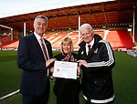 Club inclusion and Anti-Discrimination award Dave McCarthy, Sue Beeley and during the Sky Bet League One match at Bramall Lane Stadium. Photo credit should read: Simon Bellis/Sportimage