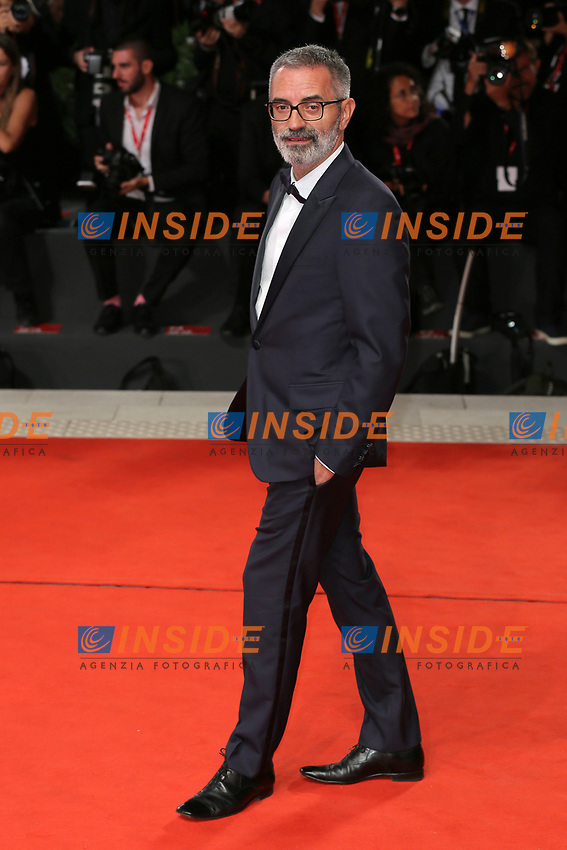 "VENICE, ITALY - SEPTEMBER 07: Giuseppe Capotondi walks the red carpet ahead of the ""The Burnt Orange Heresy"" during the 76th Venice Film Festival at Sala Grande on September 07, 2019 in Venice, Italy. (Photo by Mark Cape/Insidefoto)<br /> Venezia 07/09/2019"