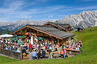 "Oesterreich, Salzburger Land, Pinzgau, Dienten am Hochkoenig: Almabtriebsfest auf der Buerglalm | Austria, Salzburger Land, region Pinzgau, Dienten am Hochkoenig: traditional festival of ""bringing down the cattle from the mountain pastures"""
