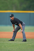 Umpire Justin Robinson during a game between the Brevard County Manatees and Lakeland Flying Tigers on April 19, 2016 at Henley Field in Lakeland, Florida.  Lakeland defeated Brevard County 9-2.  (Mike Janes/Four Seam Images)