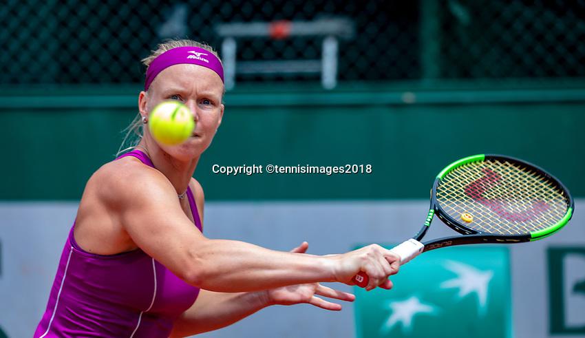 Paris, France, 01 June, 2018, Tennis, French Open, Roland Garros, Womans Doubles : Kiki Bertens (NED)<br /> Photo: Henk Koster/tennisimages.com