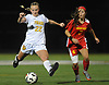 Lauren Haggerty #22 of St. Anthony's, left, looks to get as shot on goal as Joanna Graca #7 of Sacred Heart Academy pressures her during the Nassau-Suffolk CHSAA varsity girls soccer final at Adelphi University on Wednesday, Nov. 1, 2017. St. Anthony's won by a score of 2-0.