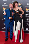 Javier Gutierrez and Malena Alterio receives the Best actor and actrees Award during Feroz Awards 2018 at Magarinos Complex in Madrid, Spain. January 22, 2018. (ALTERPHOTOS/Borja B.Hojas)
