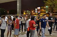 BRASÍLIA, DF - 23.09.2013 – GREVE NACIONAL DOS BANCÁRIOS – Bancários durante reuniao para fortalecer a greve. O sindicato cobra maior emprenho nos piquetos nas agências que ainda não aderiram a greve. (Foto: Ricardo Botelho/Brazil Photo Press)