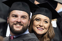 MSU Spring Graduation at Humphrey Coliseum - student graduates during ceremony.<br />  (photo by Megan Bean / &copy; Mississippi State University)