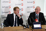 Murdo MacLeod and Walter Smith at the launch of Level5 PR in Glasgow