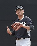Masahiro Tanaka (Yankees), MARCH 15, 2015 - MLB : New York Yankees starting pitcher Masahiro Tanaka of Japan throws in the bullpen during a spring training baseball workout in Tampa, Florida, United States. (Photo by AFLO)