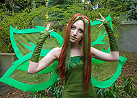 Neopets Earth Faerie Cosplay, Sakura Con 2016, Seattle, Washington, USA.