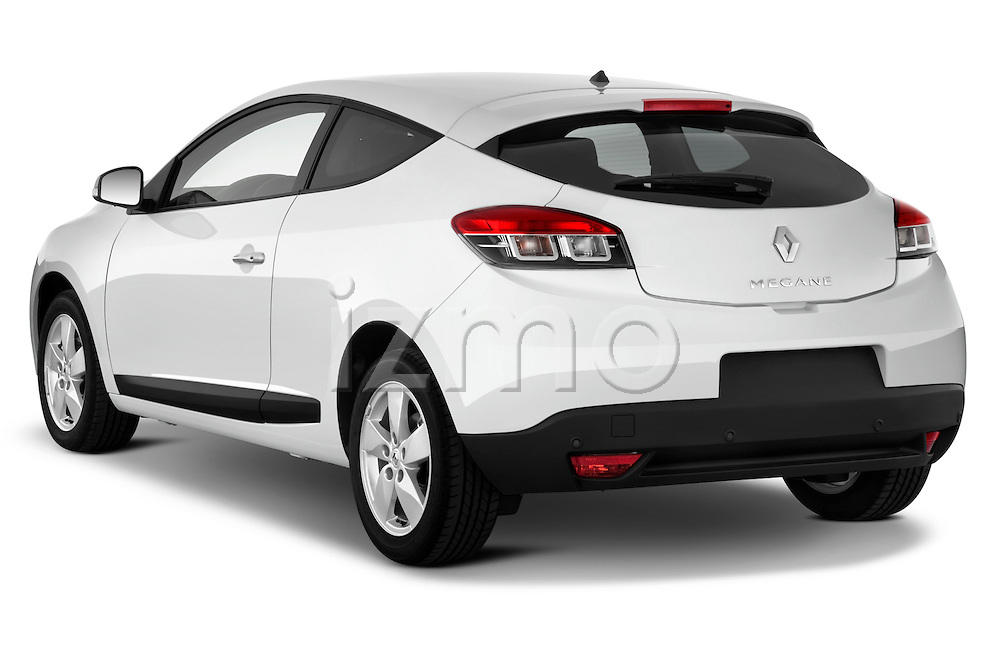Rear three quarter view of a 2009 Renault Megane Coupé Hatchback 3 Door