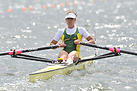 Brandenburg, GERMANY, AUS.  BLW1X, Carly COTTAM, 2008 FISA U23 World Rowing Championships, Saturday, 19/07/2008, [Mandatory credit: Peter Spurrier Intersport Images]..... Rowing Course: Brandenburg, Havel Rowing Course, Brandenburg, GERMANY