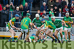 Garry O'Brien Ballyduff in action against Shane Conway Lixnaw in the Senior County Hurling Final in Austin Stack Park on Sunday