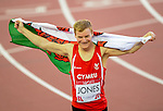 Wales Rhys Jones celebrates winning Bronze<br /> <br /> Photographer Ian Cook/Sportingwales<br /> <br /> 20th Commonwealth Games - Athletics  -  Day 5 - Monday 28th July 2014 - Glasgow - UK