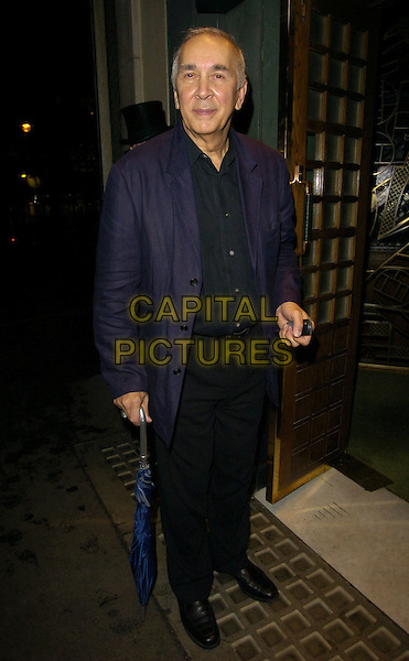 FRANK LANGELLA.Spotted at The Ivy Restaurant, .London, England, October 5th 2007..full length umbrella blue jacket.Ref: CAN.www.capitalpictures.com.sales@capitalpictures.com.©Can Nguyen/Capital Pictures