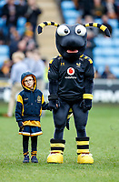 5th January 2020; Ricoh Arena, Coventry, West Midlands, England; English Premiership Rugby, Wasps versus Northampton Saints; Wasps mascot with a young fan before the game - Editorial Use