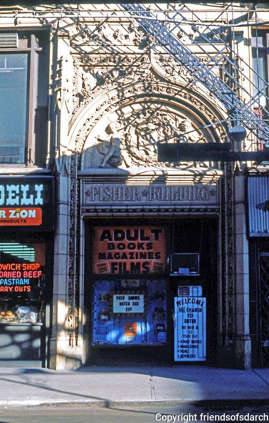 Burnham & Root: Fisher Bldg. Entrance, Chicago, 1896.  D.H. Burnham & Co.