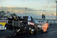 Jan. 16, 2013; Jupiter, FL, USA: NHRA funny car driver Bob Tasca III during testing at the PRO Winter Warmup at Palm Beach International Raceway.  Mandatory Credit: Mark J. Rebilas-