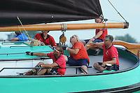 ZEILEN: FRYSLÂN: 2014, SKS skûtsjesilen, Lemster skûtsje, Lemmer, schipper Albert Jzn.Visser, ©foto Martin de Jong