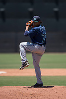 Seattle Mariners relief pitcher Erik Espinal (76) delivers a pitch during an Extended Spring Training game against the San Francisco Giants Orange at the San Francisco Giants Training Complex on May 28, 2018 in Scottsdale, Arizona. (Zachary Lucy/Four Seam Images)