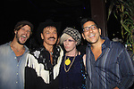 Richie Rich poses with Randy Jones (Village People) and Will Grega who are celebrating their marriage (this morning September 13, 2013) with a celebration at the 13th Annual Kings & Cowboys at DL in New York City, New York. Randy is also celebrating his birthday. Also there were Randy's mom Elaine and Will's mom Marge. Actor Keith Collins was there. (Photo by Sue Coflin/Max Photos)