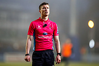 25th January 2020; Sixways Stadium, Worcester, Worcestershire, England; Premiership Rugby, Worcester Warriors versus Wasps; Referee watches a replay to check it was a valid try