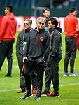 Manchester United manager Jose Mourinho and his coaching staff take a walk around the pitch ahead of the UEFA Europa League Final at the Friends Arena, Stockholm. Picture date: May 23rd, 2017. Pic credit should read: Matt McNulty/Sportimage