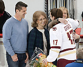 Chad Grieves, ?, Meghan Grieves (BC - 17), Debbie Grieves - The Boston College Eagles defeated the visiting Providence College Friars 7-1 on Friday, February 19, 2016, at Kelley Rink in Conte Forum in Boston, Massachusetts.