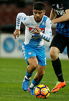 Lorenzo Insigne  during the  italian serie a soccer match,between SSC Napoli and Atalanta      at  the San  Paolo   stadium in Naples  Italy , February 25, 2017