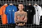 Fernando Ricksen ex-Rangers FC captain with his range of clothing he hopes will leave a legacy for him as he battles against the ravages of Motor Neuron disease.