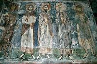 saints,wall-painting,Katholikon Church of St. Luke,Osios Loukas Monastery,Greece
