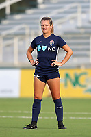 Cary, North Carolina  - Saturday June 17, 2017: Meredith Speck prior to a regular season National Women's Soccer League (NWSL) match between the North Carolina Courage and the Boston Breakers at Sahlen's Stadium at WakeMed Soccer Park. The Courage won the game 3-1.