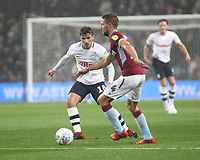 Preston North End's Ryan Ledson in action with Aston Villa's Conor Hourihane<br /> <br /> Photographer Mick Walker/CameraSport<br /> <br /> The EFL Sky Bet Championship - Aston Villa v Preston North End - Tuesday 2nd October 2018 - Villa Park - Birmingham<br /> <br /> World Copyright &copy; 2018 CameraSport. All rights reserved. 43 Linden Ave. Countesthorpe. Leicester. England. LE8 5PG - Tel: +44 (0) 116 277 4147 - admin@camerasport.com - www.camerasport.com