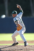 Eric Steel #20 of the Tulane Green Wave pitches against the Pepperdine Waves during a game at Eddy D. Field Stadium on March 13, 2015 in Malibu, California. Tulane defeated Pepperdine, 9-3. (Larry Goren/Four Seam Images)
