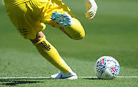 Wycombe Wanderers' Ryan Allsop takes a goalkick<br /> <br /> Photographer Kevin Barnes/CameraSport<br /> <br /> The EFL Sky Bet League One - Wycombe Wanderers v Blackpool - Saturday 4th August 2018 - Adams Park - Wycombe<br /> <br /> World Copyright &copy; 2018 CameraSport. All rights reserved. 43 Linden Ave. Countesthorpe. Leicester. England. LE8 5PG - Tel: +44 (0) 116 277 4147 - admin@camerasport.com - www.camerasport.com