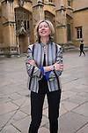 Christina Lamb, journalist and foreign affairs correspondent of the Sunday Times & 5 times winner of the Foreign Correspondent of the Year outside the Divinity School during the FT Weekend Oxford Literary Festival, Sunday 10 April 2016. Photo © Graham Harrison.
