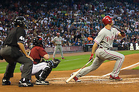 Ibanez, Raul _6452.jpg Philadelphia Phillies at Houston Astros. Major League Baseball. September 7th, 2009 at Minute Maid Park in Houston, Texas. Photo by Andrew Woolley.