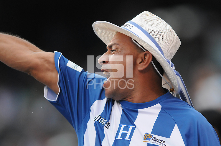 Honduras fan.   Honduras defeated Costa Rica in Penalty Kick 4-2 in the quaterfinals for the 2011 CONCACAF Gold Cup , at the New Meadowlands Stadium, Saturday June 18, 2011.