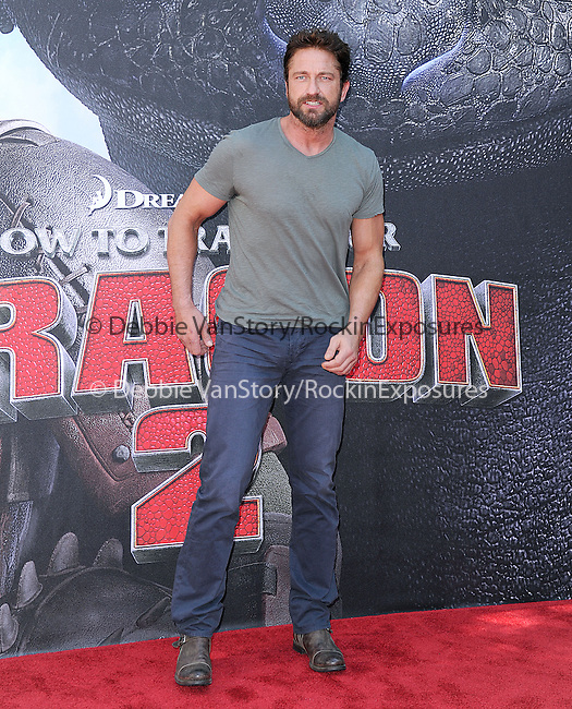 Gerard Butler attends The Twentieth Century Fox's How To Train Your Dragon 2 Premiere at The Regency Village in Westwood, California on JUNE 08,2014                                                                               © 2014 Hollywood Press Agency