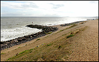 BNPS.co.uk (01202 558833)<br /> Pic:  RogerArbon/BNPS<br /> <br /> The beach at Barton on Sea where the incident happened.<br /> <br /> A pet owner has been left with a vets bill of over £7,000 after her dog ate a discarded fishing hook which ripped through its stomach.<br /> <br /> The Cavalier King Charles spaniel, aptly named Lucky, scoffed the two inch long barb while out for a beach walk.<br /> <br /> Owner Theresa Buckingham spotted fishing line protruding from Lucky's mouth and quickly realised there was a hook on the other end that he had swallowed. <br /> <br /> The pet  began yelping out and writhing in agony as the metal object slipped down his throat and ripped into his oesophagus.