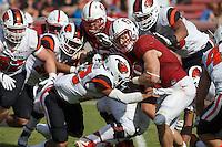 Stanford, CA - November 5, 2016: Christian McCaffreyduring  the Stanford vs Oregon State game at Stanford Stadium Saturday. <br /> <br /> Stanford won 26-15.